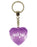 Glitter Babe Diamond Heart Keyring - Purple