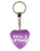 No 1 Flirt Diamond Heart Keyring - Purple