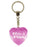 No 1 Flirt Diamond Heart Keyring - Pink