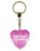 Drama Queen Diamond Heart Keyring - Pink