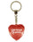 Drama Queen Diamond Heart Keyring - Red