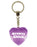 Groovy Chick Diamond Heart Keyring - Purple