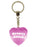 Groovy Chick Diamond Heart Keyring - Pink