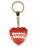 Groovy Chick Diamond Heart Keyring - Red