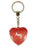 Amy Diamond Heart Keyring - Red