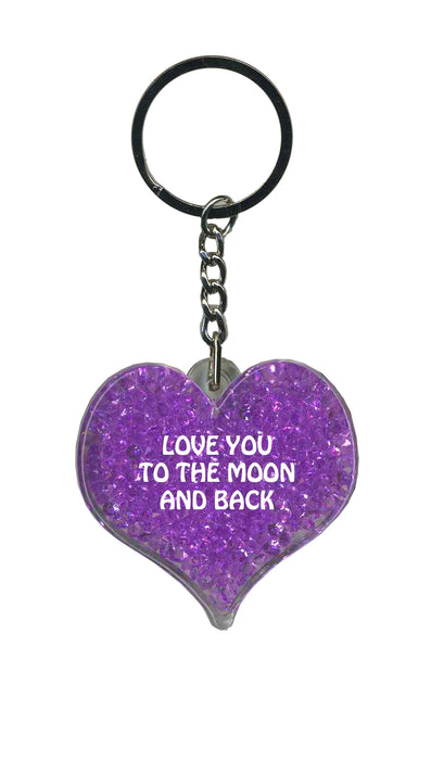 Love You To The Moon & Back Itzy Glitzy - Purple