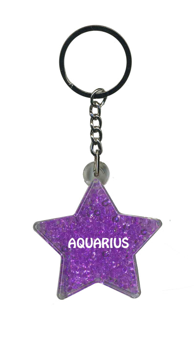 Aquarius Itzy Glitzy Keyring - Purple