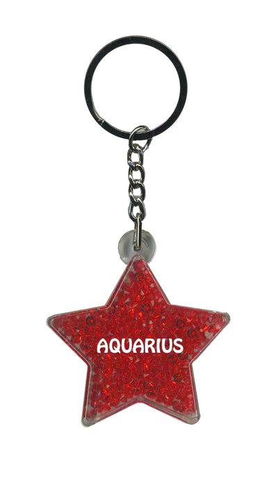 Aquarius Itzy Glitzy Keyring - Red