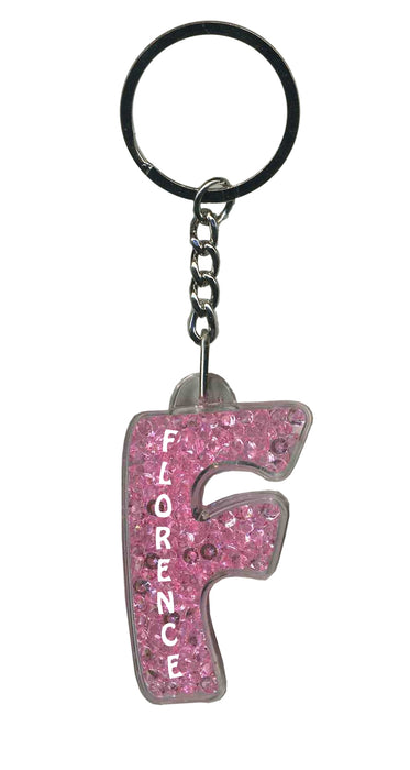 Florence Itzy Glitzy Keyring - Pink