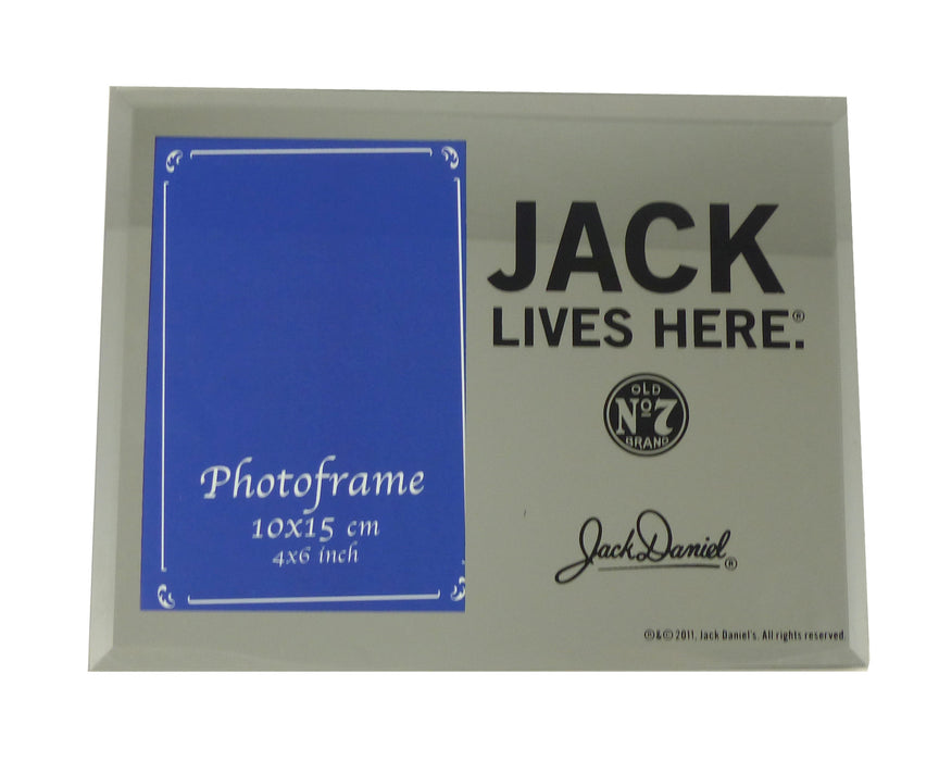 Jack Daniels Mirror Photo Frame - Jack Lives Here