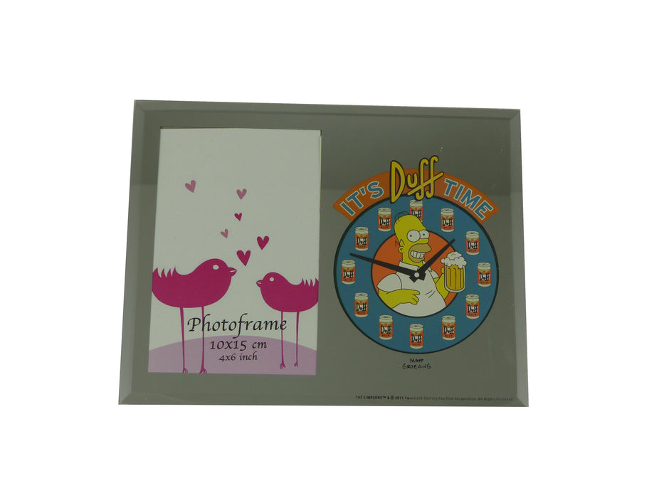 Simpsons Mirror Photo Frame - Duff Time