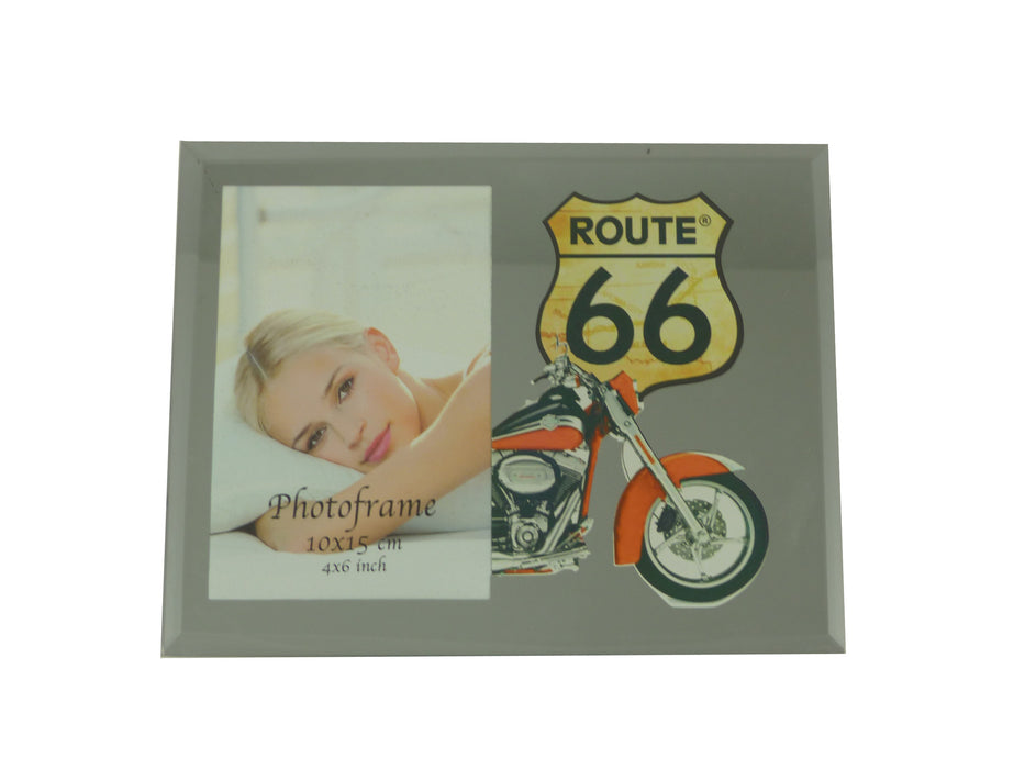 Route 66 Mirror Photo Frame - Motorbike