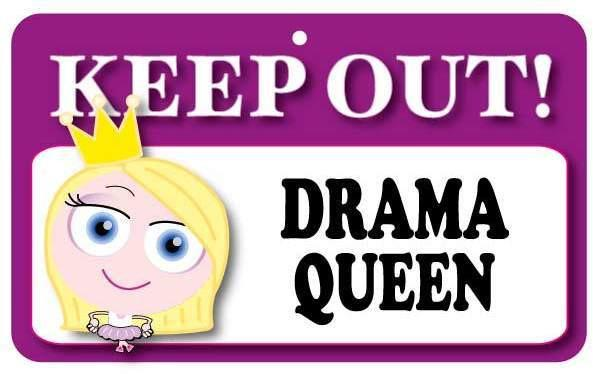 KO001 Keep Out Door Sign - Drama Queen