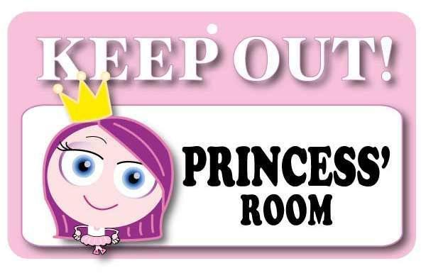 KO004 Keep Out Door Sign - Princess