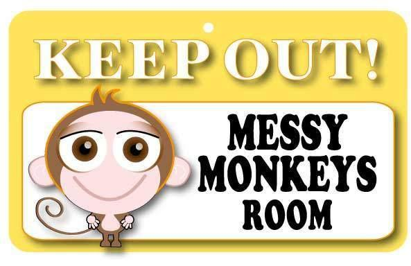 KO014 Keep Out Door Sign - Messy Monkeys Room