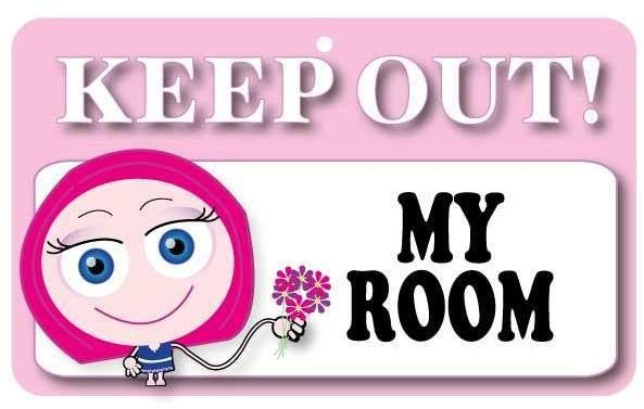KO016 Keep Out Door Sign - My Room (Girls)