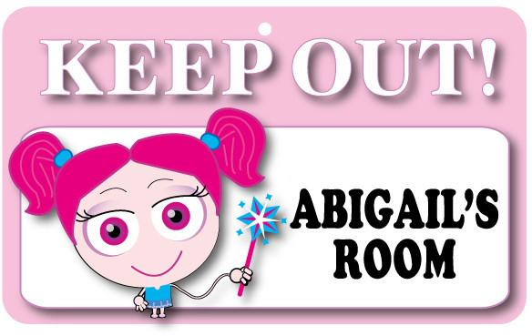 KO027 Keep Out Door Sign - Abigail's Room