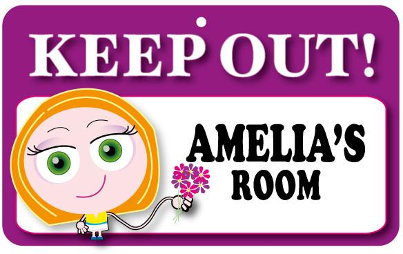 KO031 Keep Out Door Sign - Amelia's Room