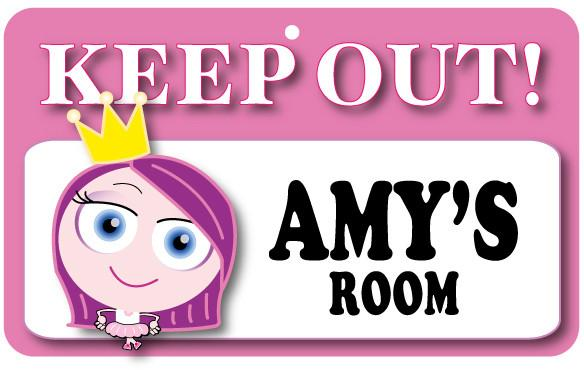 KO032 Keep Out Door Sign - Amy's Room