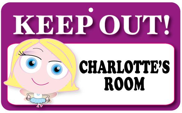 KO042 Keep Out Door Sign - Charlotte's Room