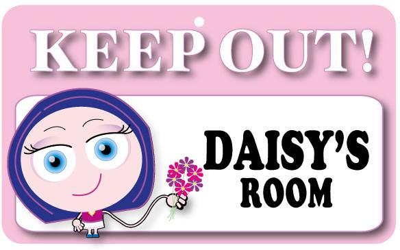 KO045 Keep Out Door Sign - Daisy's Room