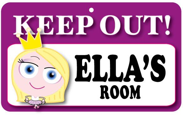 KO048 Keep Out Door Sign - Ella's Room