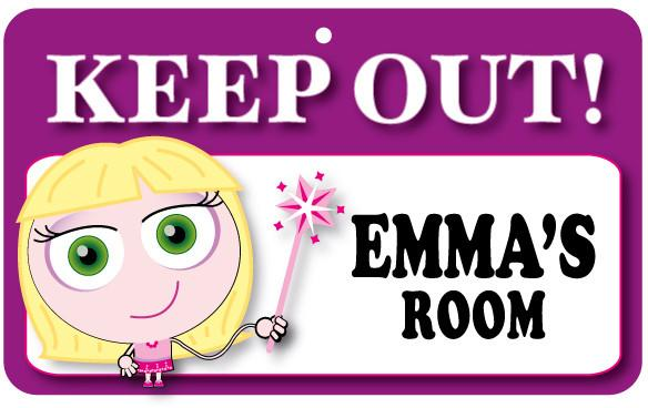 KO051 Keep Out Door Sign - Emma's Room