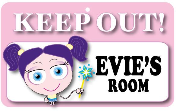 KO054 Keep Out Door Sign - Evie's Room