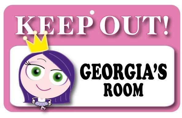 KO058 Keep Out Door Sign - Georgia's Room