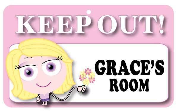 KO059 Keep Out Door Sign - Grace's Room