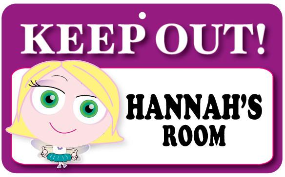 KO060 Keep Out Door Sign - Hannah's Room