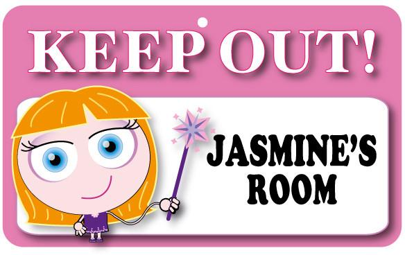 KO072 Keep Out Door Sign - Jasmine's Room