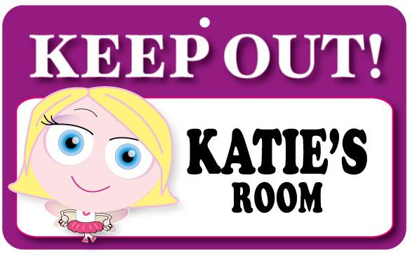 KO077 Keep Out Door Sign - Katie's Room