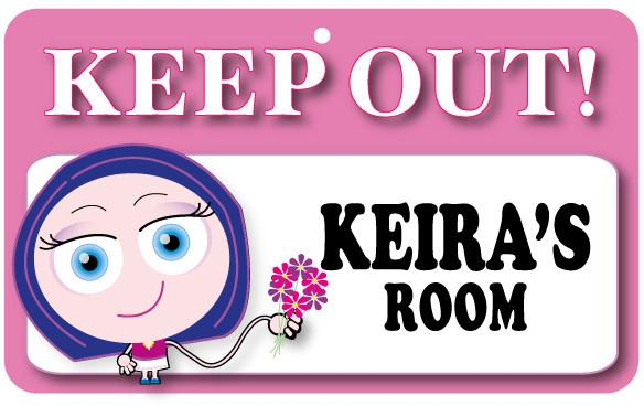 KO078 Keep Out Door Sign - Keira's Room