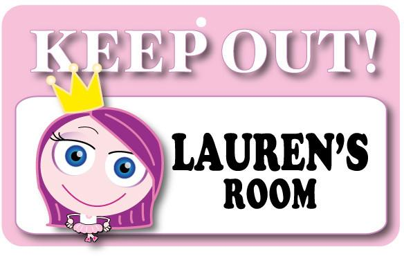 KO079 Keep Out Door Sign - Lauren's Room
