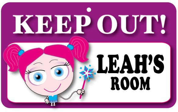 KO080 Keep Out Door Sign - Leah's Room