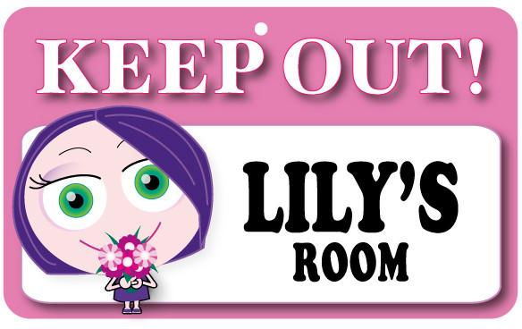KO084 Keep Out Door Sign - Lily's Room