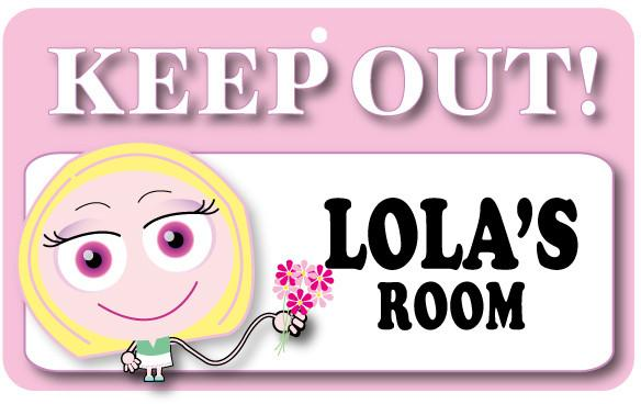 KO086 Keep Out Door Sign - Lola's Room