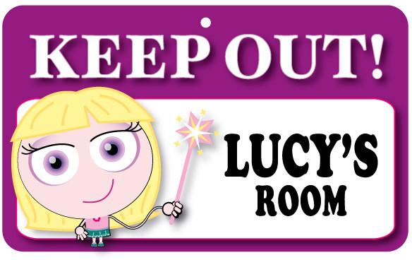 KO088 Keep Out Door Sign - Lucy's Room