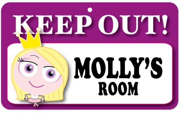 KO095 Keep Out Door Sign - Molly's Room