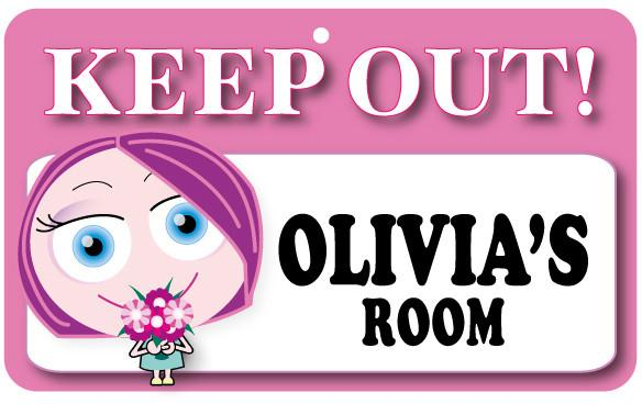 KO097 Keep Out Door Sign - Olivia's Room