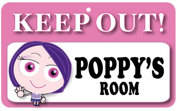 KO100 Keep Out Door Sign - Poppy's Room