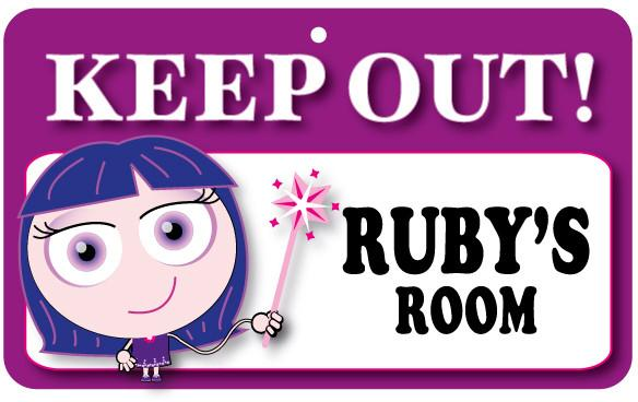 KO102 Keep Out Door Sign - Ruby's Room