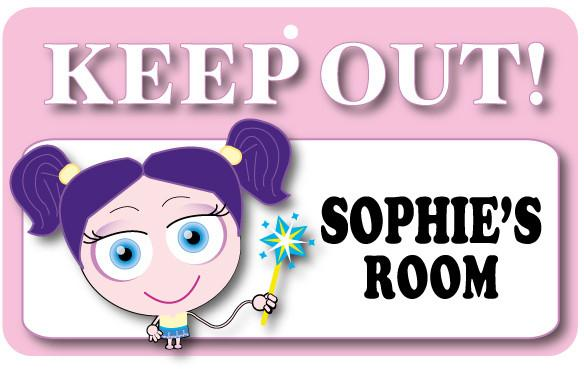KO106 Keep Out Door Sign - Sophie's Room