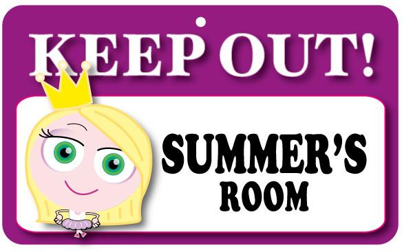 KO107 Keep Out Door Sign - Summer's Room