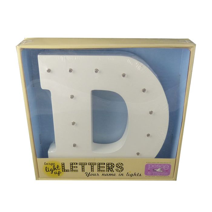 Large White Light-Up Letter with LED Lights