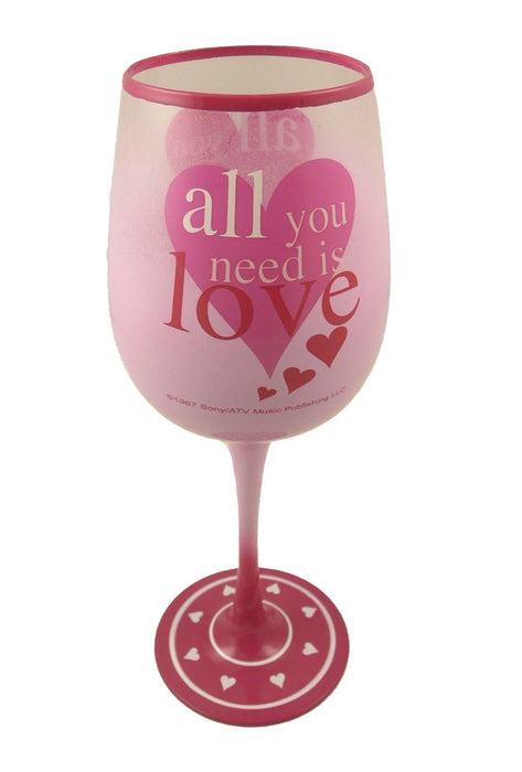 Lennon & McCartney Wine Glass - All You Need Is Love