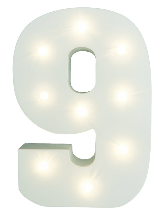 Light-Up Number with LED Lights