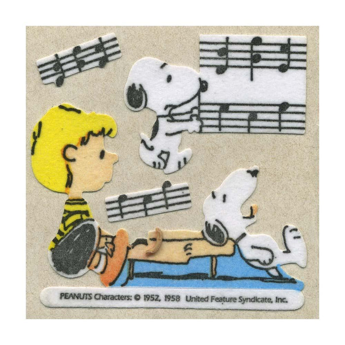 Maxi Stickers - Snoopy & Schroeder with Piano