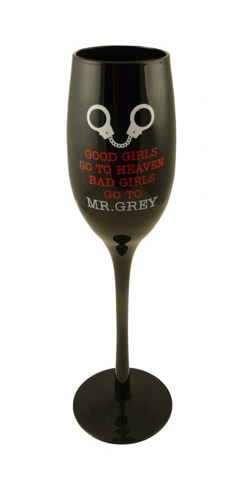 Mr Grey Wine Glass